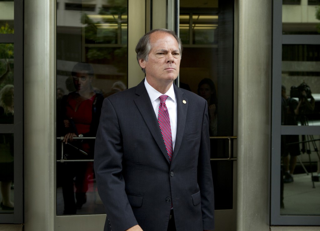 James Wolfe former director of security with the Senate Intelligence Committee leaves the federal courthouse, Wednesday, June 13, 2018, in Washington.