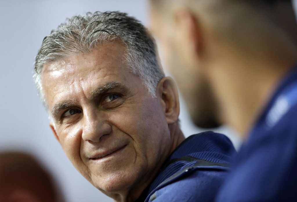 Iran head coach Carlos Queiroz, during the media conference of Iran on the eve of the group B match between Morocco and Iran at the 2018 soccer World