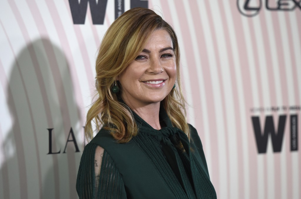 Ellen Pompeo arrives at the Women In Film Crystal and Lucy Awards at the Beverly Hilton Hotel on Wednesday, June 13, 2018, in Beverly Hills, Calif. (P
