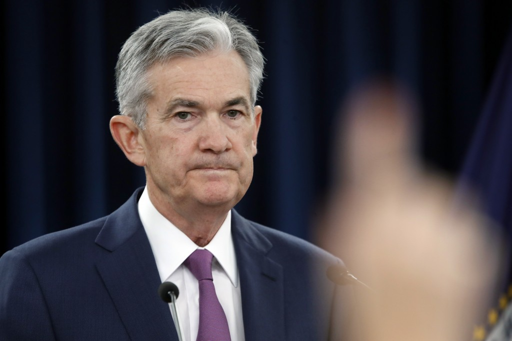Federal Reserve Chair Jerome Powell speaks during a news conference after the Federal Open Market Committee meeting, Wednesday, June 13, 2018, in Wash