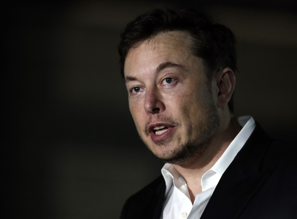 Tesla CEO and founder of the Boring Company Elon Musk speaks at a news conference Thursday, June 14, 2018, in Chicago. The Boring Company has been sel