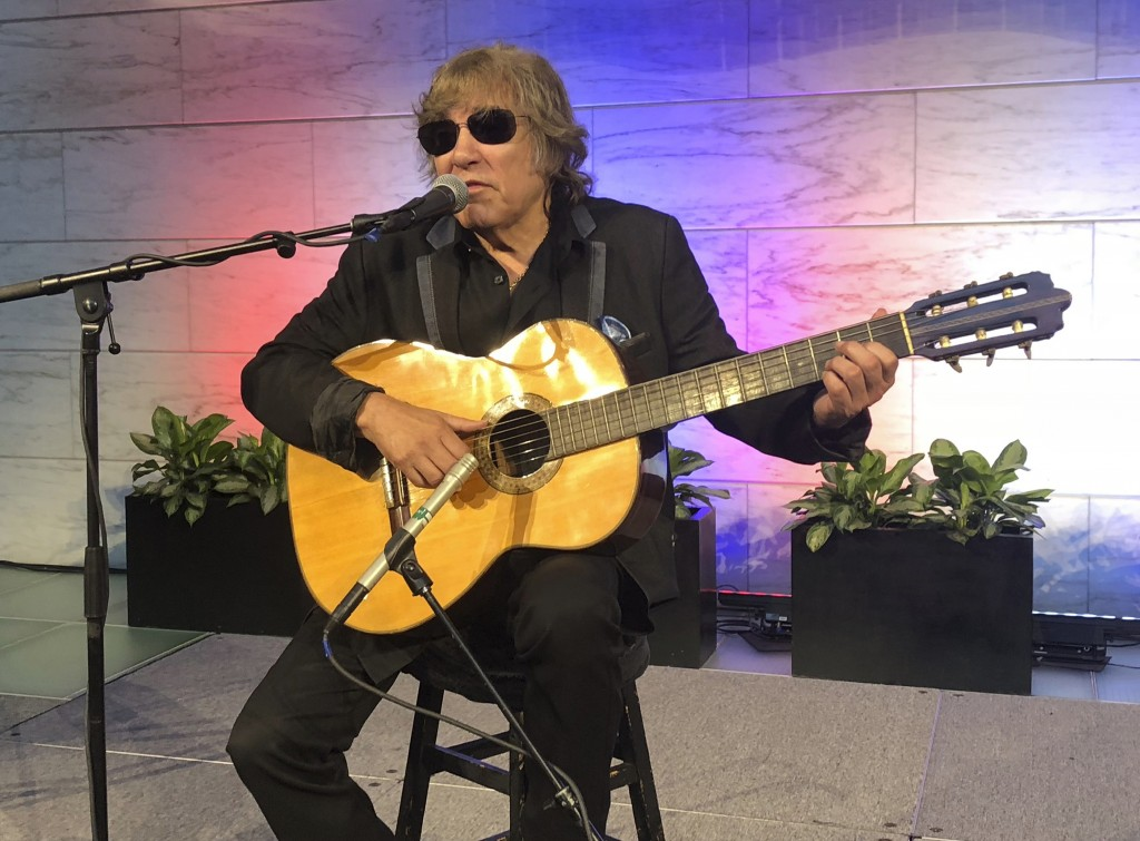 "Grammy Award-winning artist Jose Feliciano performs the ""Star-Spangled Banner"" at the Smithsonian' National Museum of American History in Washington,"