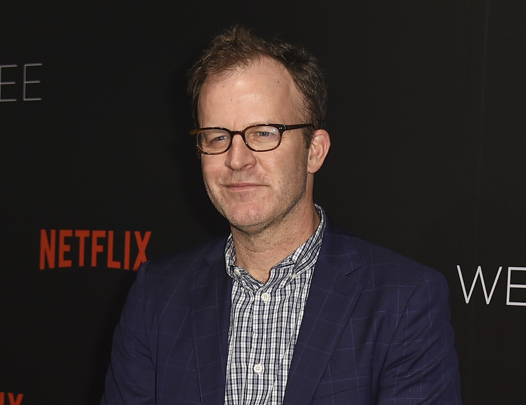 """FILE - In this June 2, 2017 file photo, Tom McCarthy arrives at the """"13 Reasons Why"""" FYC Event in Beverly Hills, Calif. McCarthy is in negotiations to"""
