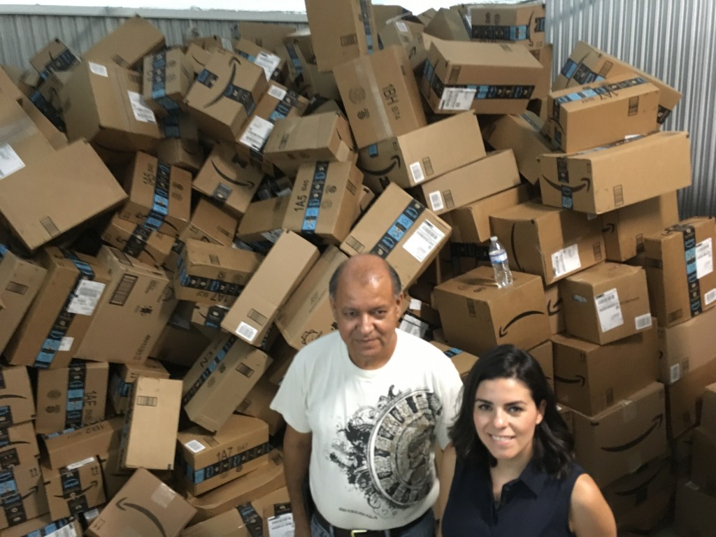 In this photograph taken June 24, 2018, Catholic Charities of the Rio Grande Valley staffer Eli Fernandez and volunteer Natalie Montelongo pose for a ...