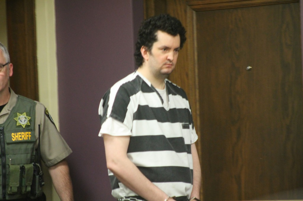 Joshua Webb appears in Clackamas County Circuit Court in Oregon City, Ore., on Tuesday, June 26, 2018, where he pleaded guilty except for insanity in ...