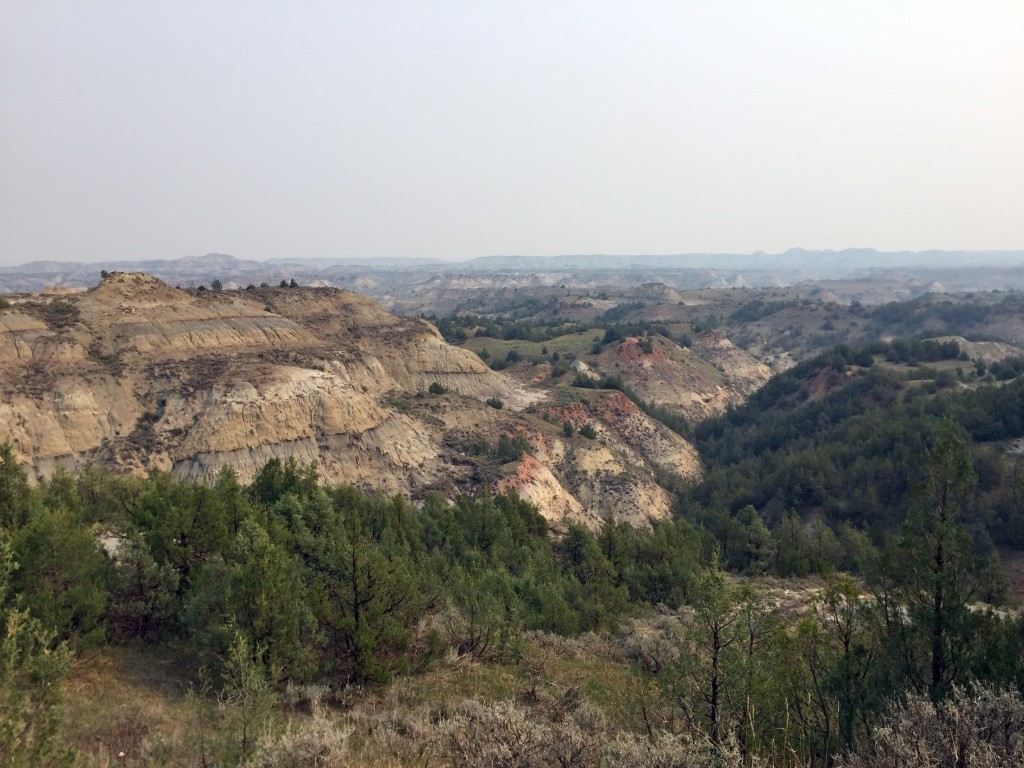 This Sept. 3, 2017 photo shows the tawny stone badlands at Theodore Roosevelt National Park in Medora, N.D. Teddy Roosevelt spent time in the area to ...