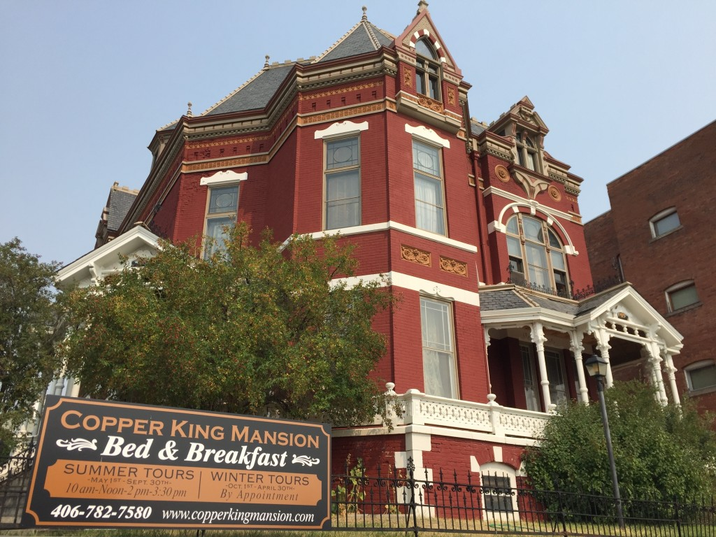 This Sept. 6, 2017 photo shows the 34-room Copper King Mansion, built in the 1880s in Butte, Montana, by William A. Clark, one of the richest men of h...