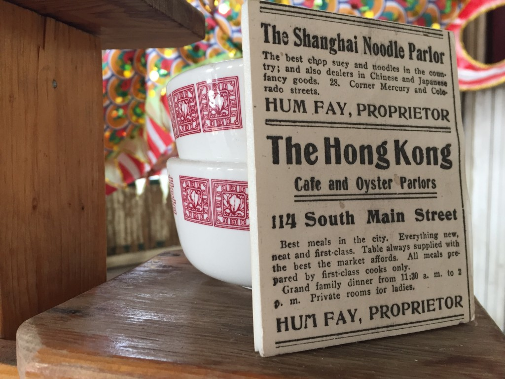 This Sept. 6, 2017 photo shows a display at the Mai Wah Museum in Butte, Montana. The museum tells the story of Butte's Chinese community, 2,000 stron...