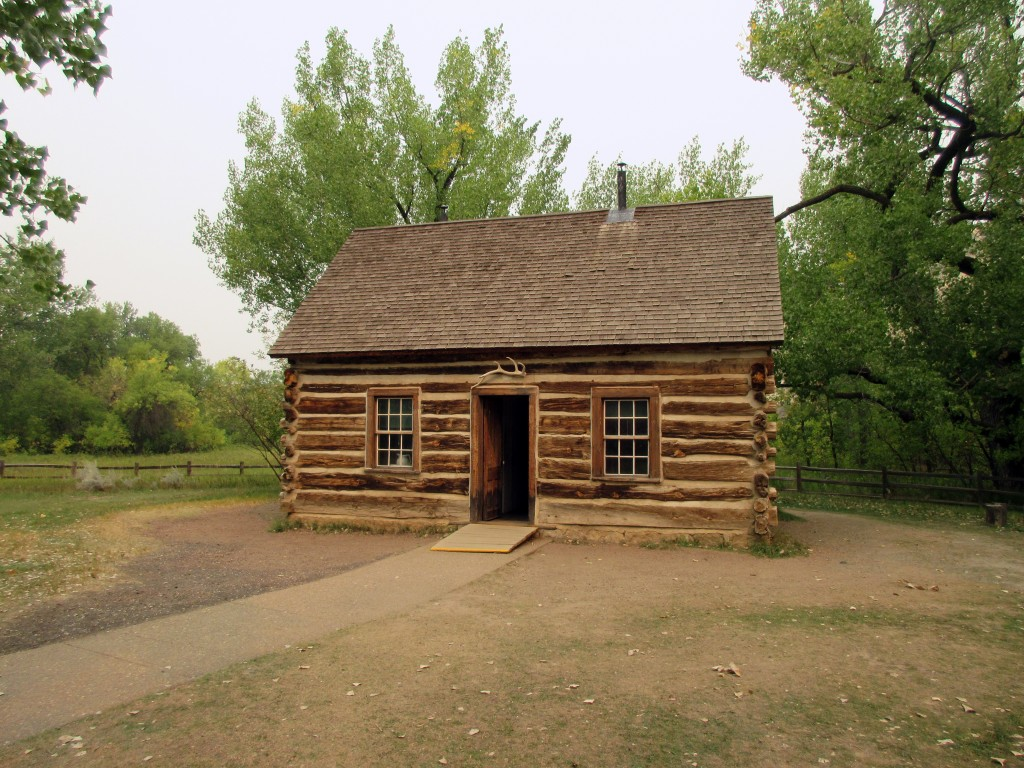 This Sept. 3, 2017 photo shows a cabin that Theodore Roosevelt lived in, open to visitors at Theodore Roosevelt National Park in Medora, N.D. Roosevel...