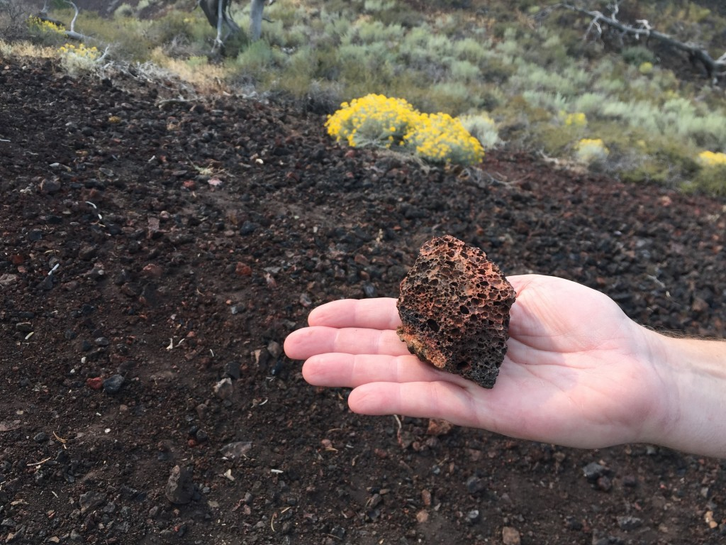 This Sept. 7, 2017 photo shows a fragment of lava at Craters of the Moon National Monument and Preserve in Arco, Idaho. The park's weird black landsca...