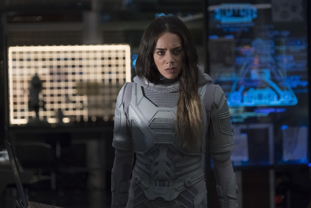 "This image released by Marvel Studios shows Hannah John-Kamen in a scene from ""Ant-Man and the Wasp."" (Disney/Marvel Studios via AP)"