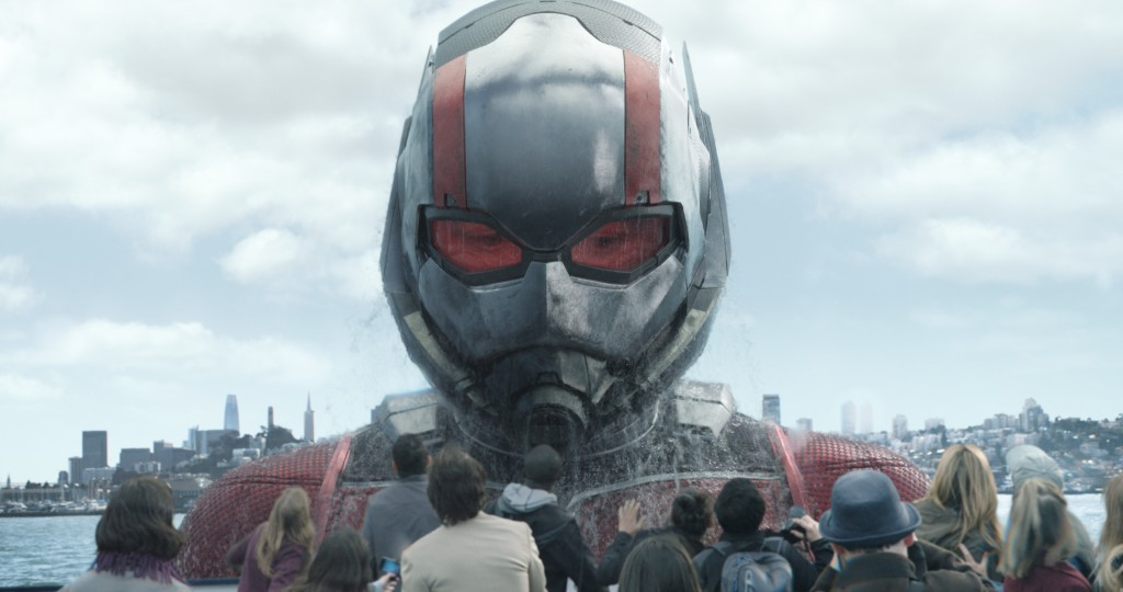 "This image released by Marvel Studios shows Paul Rudd in a scene from ""Ant-Man and the Wasp."" (Disney/Marvel Studios via AP)"