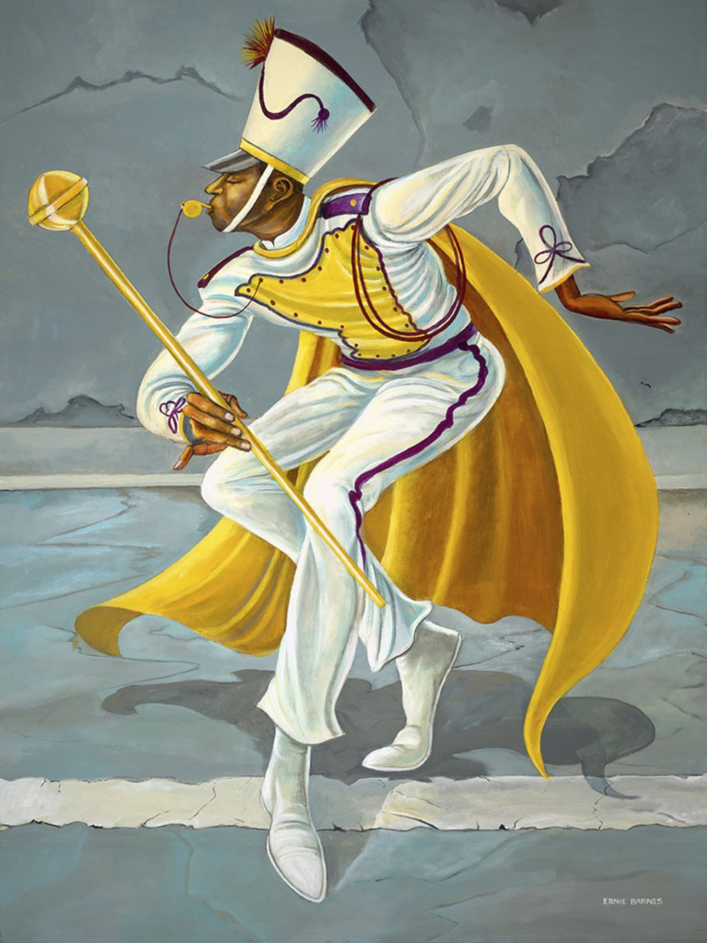 """This photo made available by the Ernie Barnes Family Trust shows the painting titled """"The Drum Major,"""" created by Ernie Barnes in 2003. The state hist..."""
