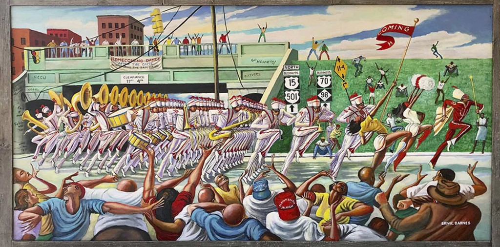 """This photo made available by the Ernie Barnes Family Trust shows the painting titled """"Homecoming,"""" created by Ernie Barnes in 1994. The state history ..."""