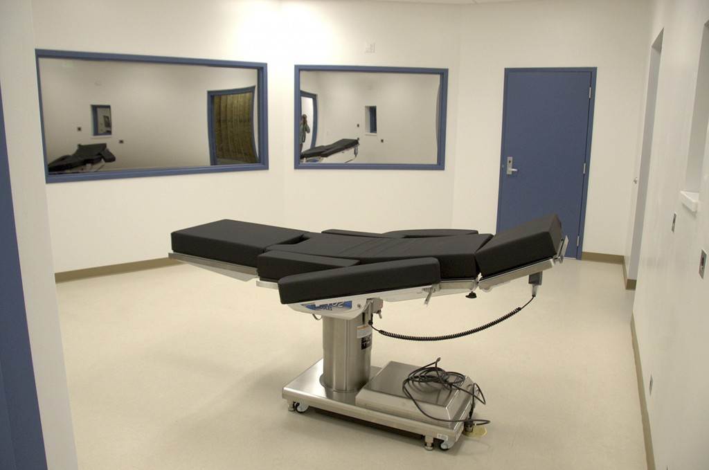 FILE - This Nov. 10, 2016, file photo released by the Nevada Department of Corrections shows the newly completed execution chamber at Ely State Prison