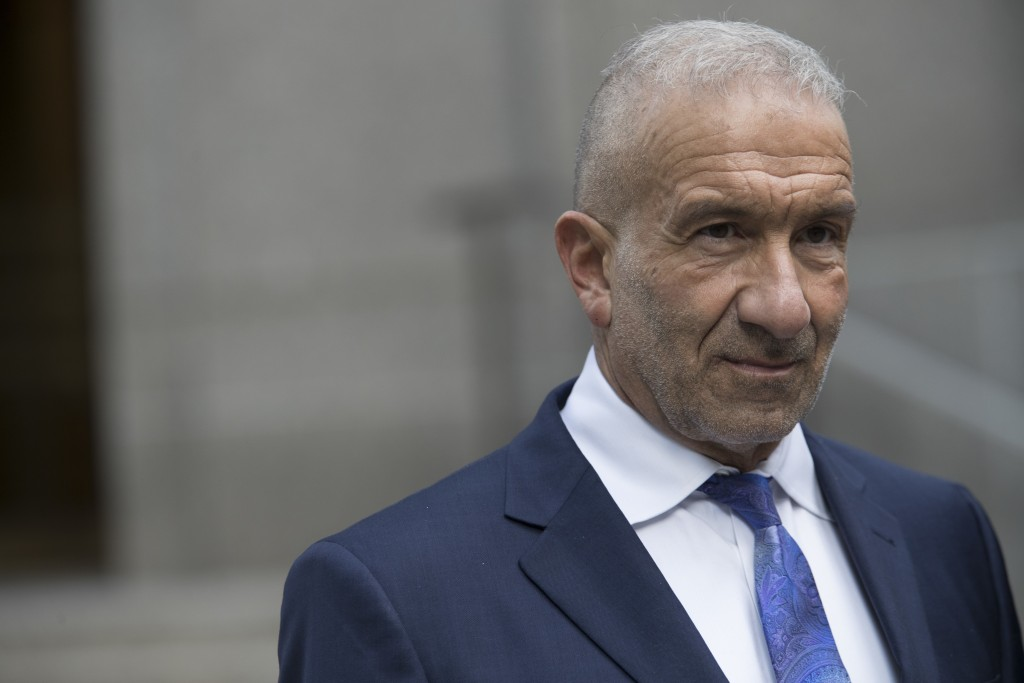 Alain Kaloyeros, a former president of the State University of New York's Polytechnic Institute, leaves Federal court where he is on trial on corrupti