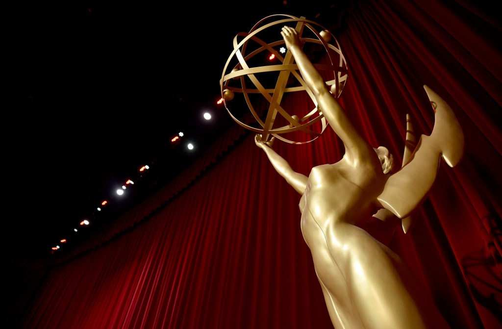 An Emmy statue appears on stage at the 70th Primetime Emmy Nominations Announcements at the Television Academy's Saban Media Center on Thursday, July