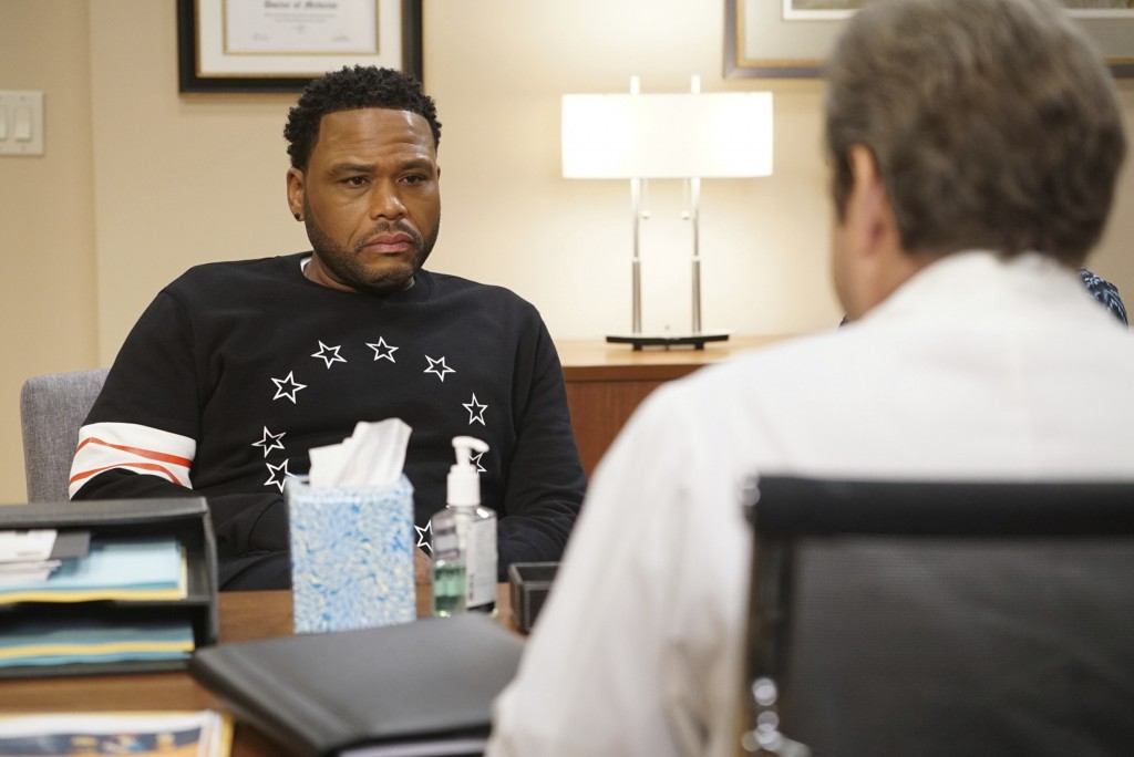 """This image released by ABC shows Anthony Anderson in a scene from """"black-ish.""""  Anderson was nominated Thursday for an Emmy for outstanding lead actor"""