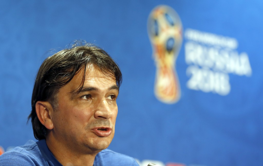 Croatia head coach Zlatko Dalic answers a question during a news a press conference at the 2018 soccer World Cup in Moscow, Russia, Thursday, July 12,