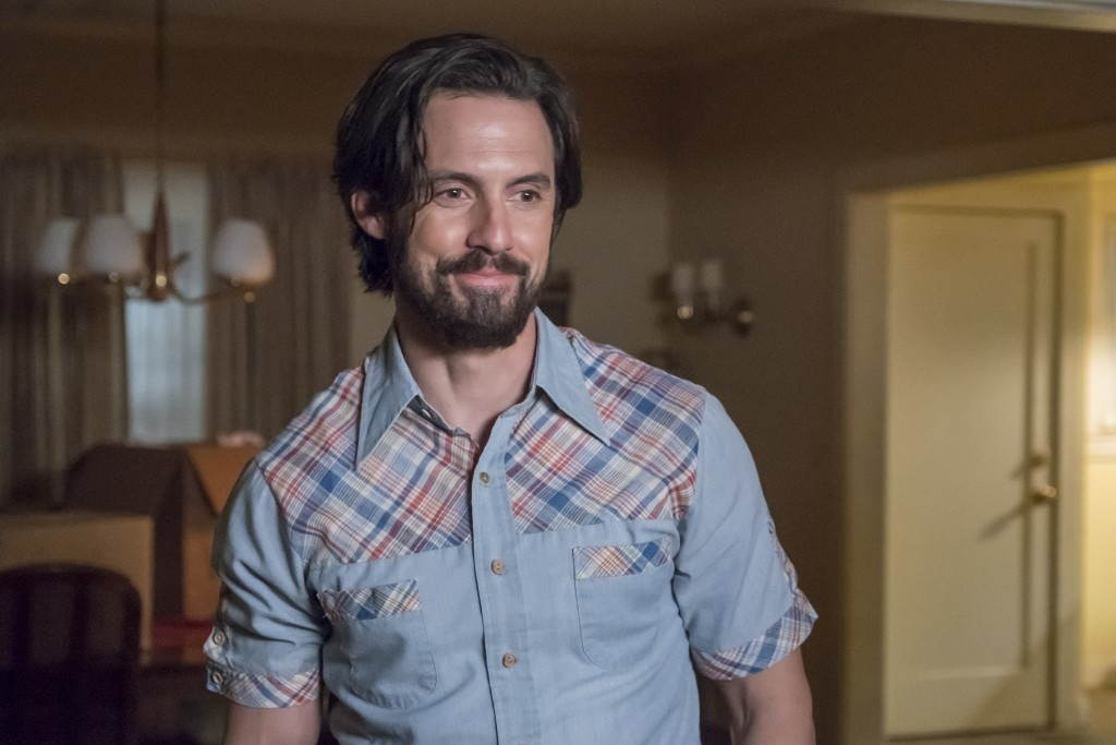 "This image released by NBC shows Milo Ventimiglia in a scene from ""This Is Us.""  NBC's ""This is Us"" was conspicuously left empty handed when it came t"