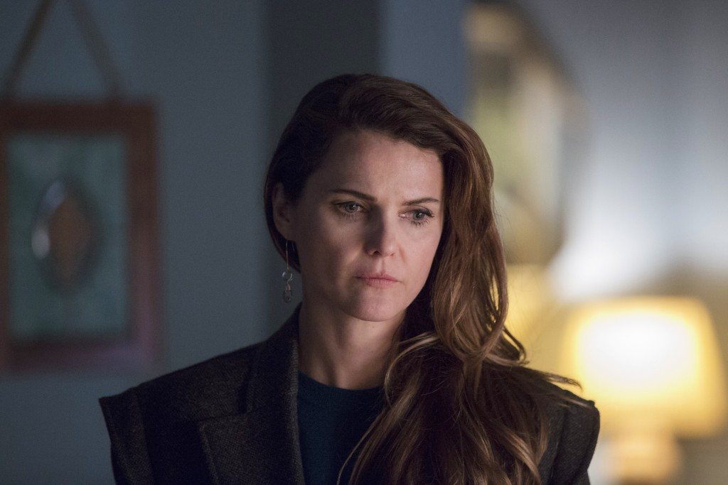 "This image released by FX shows Keri Russell in a scene from ""The Americans."" On Thursday, Dec. 6, 2018,  Russell was nominated for a Golden Globe awa"