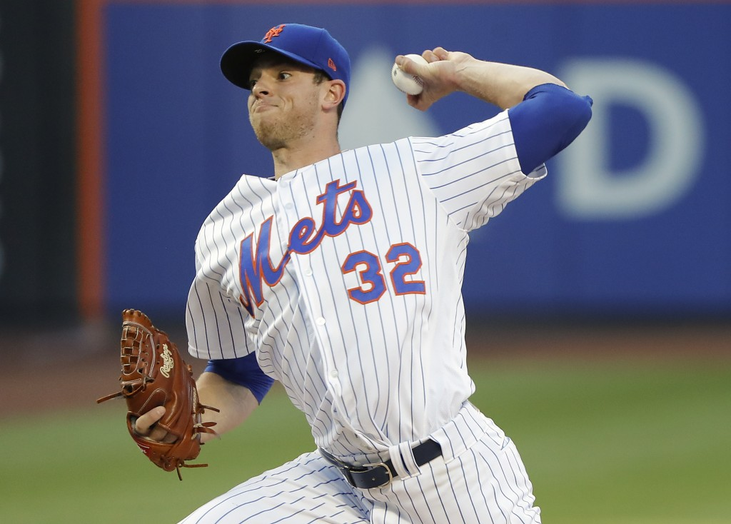 New York Mets starting pitcher Steven Matz delivers against the Washington Nationals during the second inning of a baseball game Thursday, July 12, 20