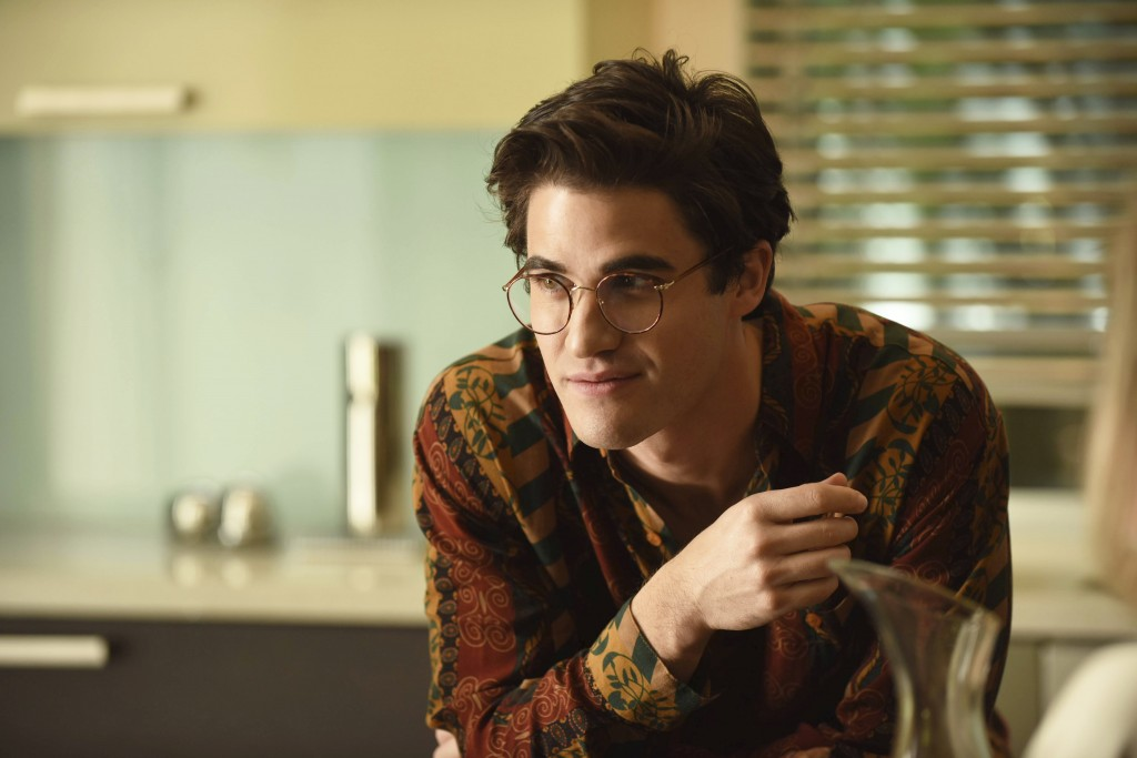 "This image released by FX shows Darren Criss as Andrew Cunanan in a scene from ""The Assassination of Gianni Versace: American Crime Story."" Criss was"