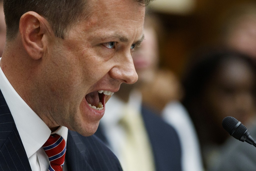 FBI Deputy Assistant Director Peter Strzok testifies before the House Committees on the Judiciary and Oversight and Government Reform during a hearing