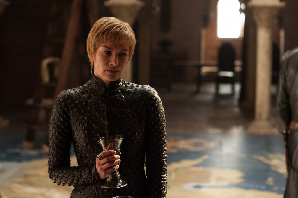 """This image released by HBO shows Lena Headey in a scene from """"Game of Thrones."""" Headey was nominated Thursday for an Emmy for outstanding supporting a"""