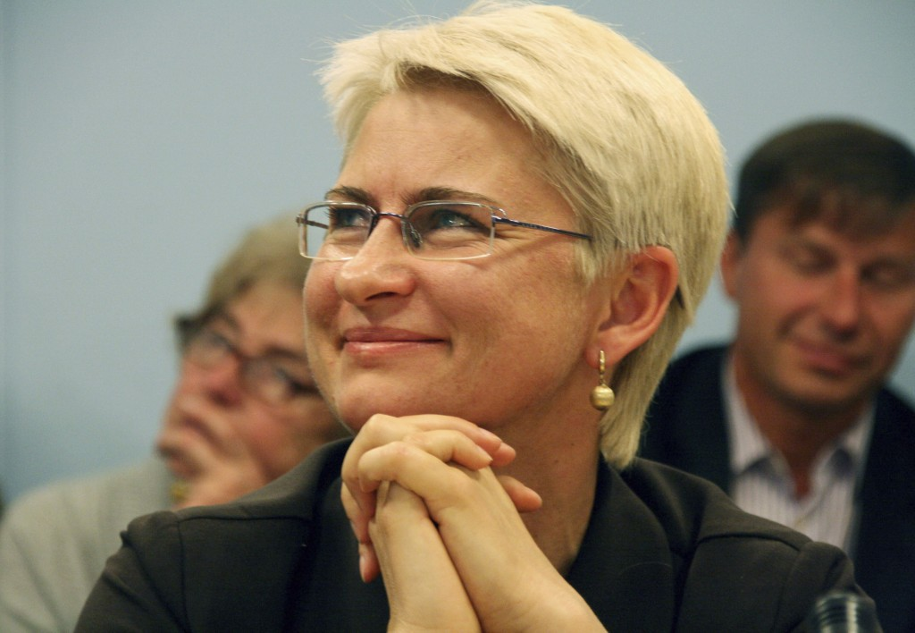 FILE - This 2012 file photo provided by Juozas Valiušaitis shows Neringa Venckiene in Lithuania. Venckiene, a former Lithuanian judge and parliamentar