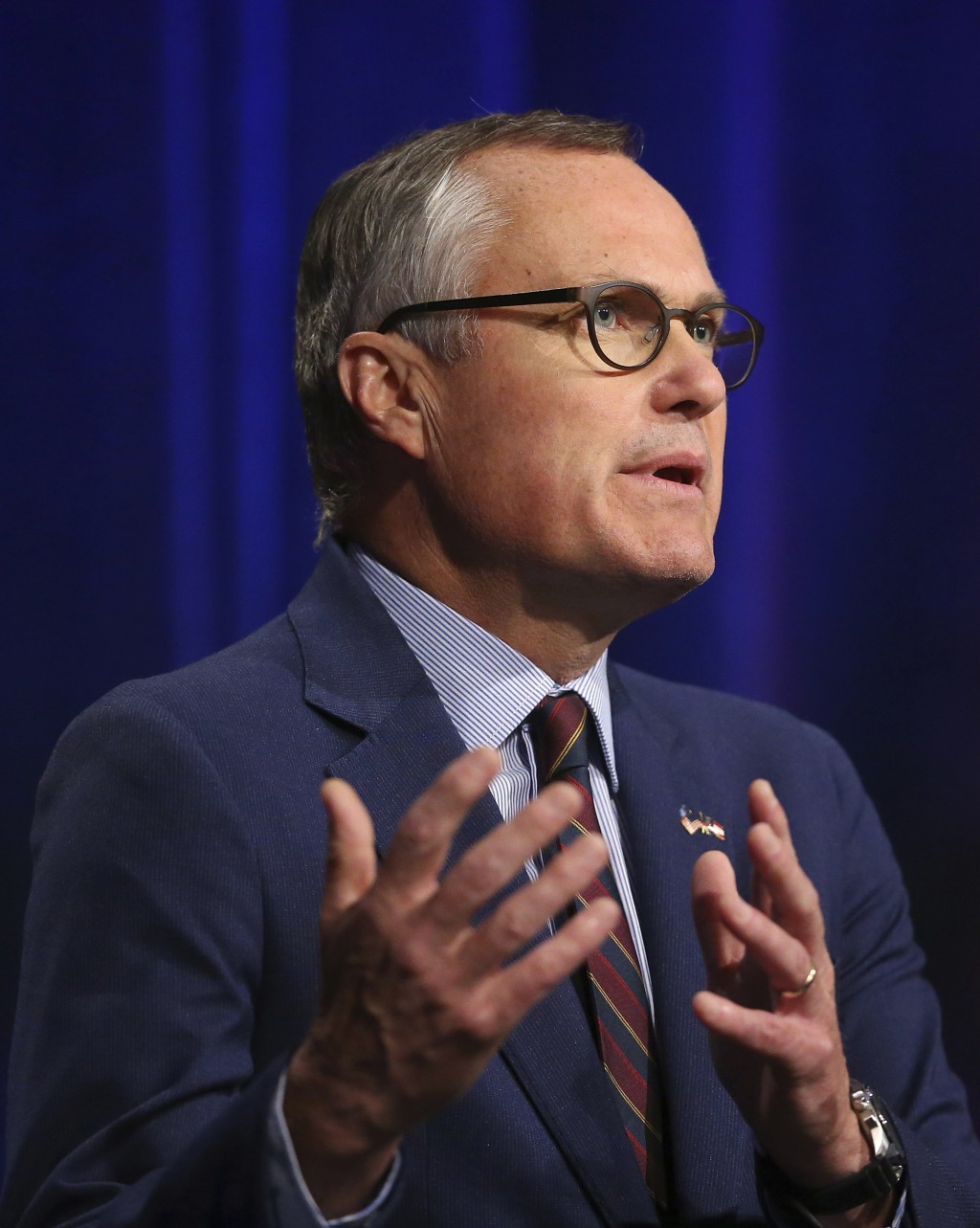 Republican candidate for Georgia Governor Lt. Gov. Casey Cagle speaks during an Atlanta Press Club debate against Secretary of State Brian Kemp at Geo