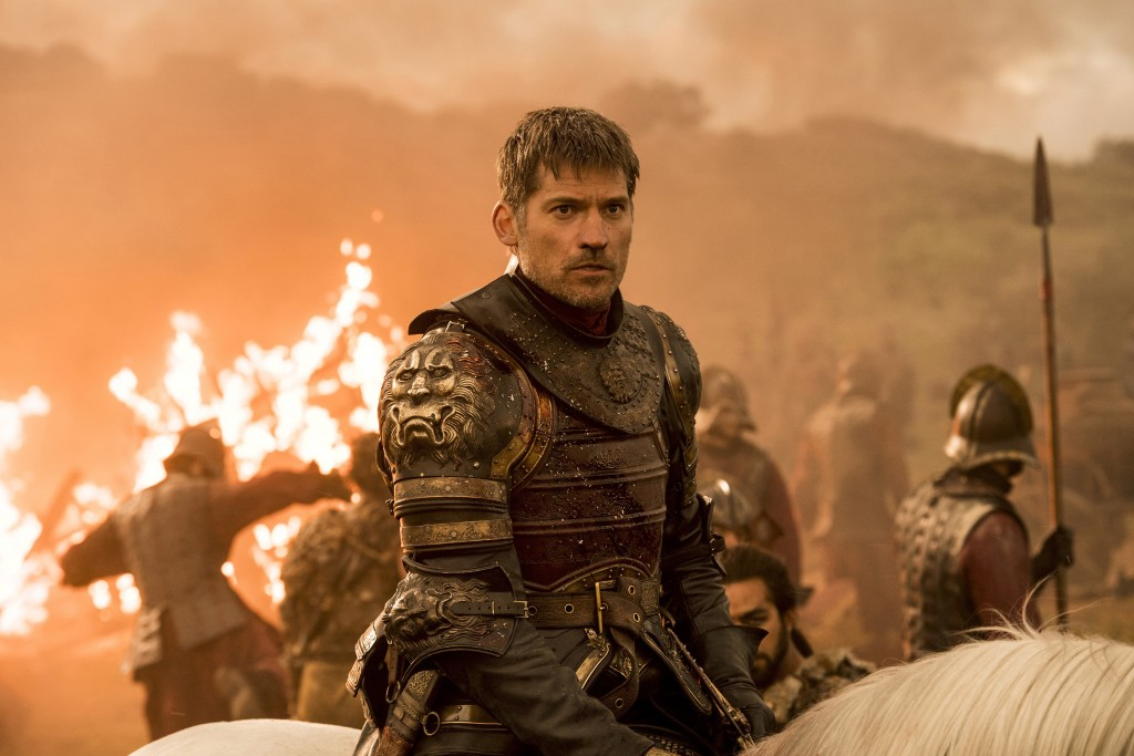 "This image released by HBO shows Nikolaj Coster-Waldau in a scene from ""Game of Thrones."" Coster-Waldau was nominated Thursday for an Emmy for outstan"