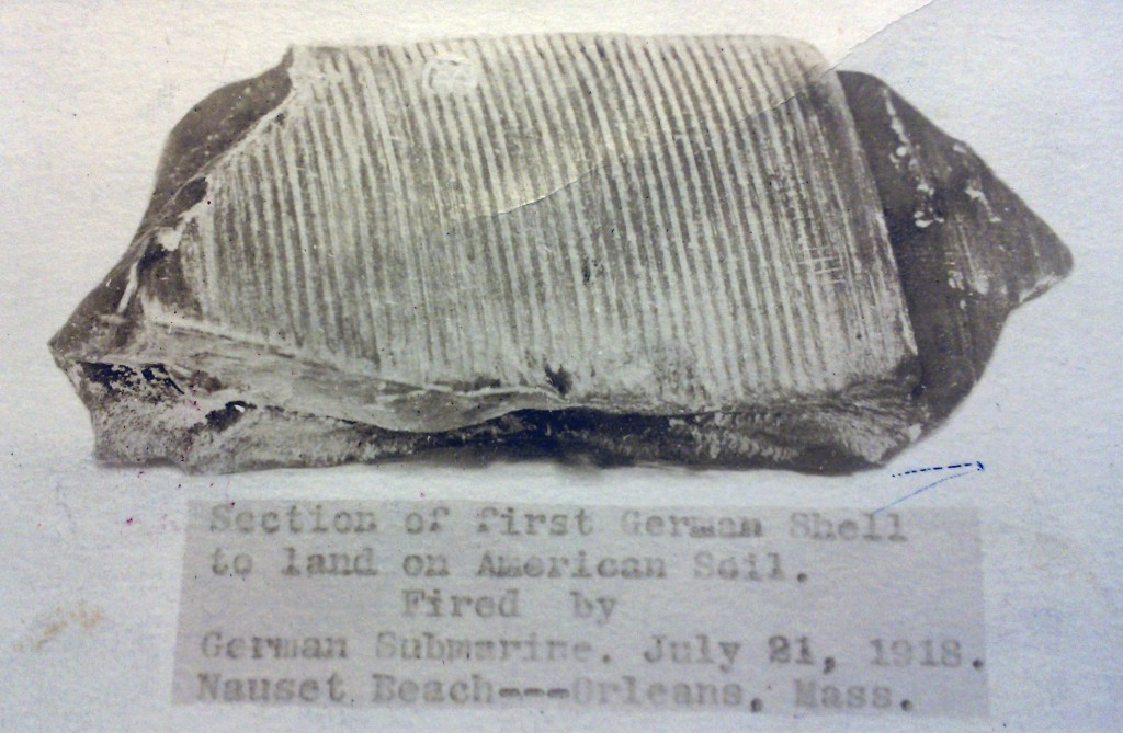 This photo provided by the Orleans Historical Society shows a portion of a German shell salvaged from a German World War I submarine attack on Orleans