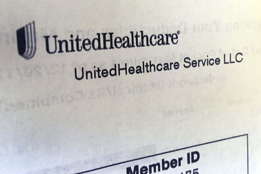 United Healthcare correspondence is seen in North Andover Mass. United Health Group reports earnings Tuesday