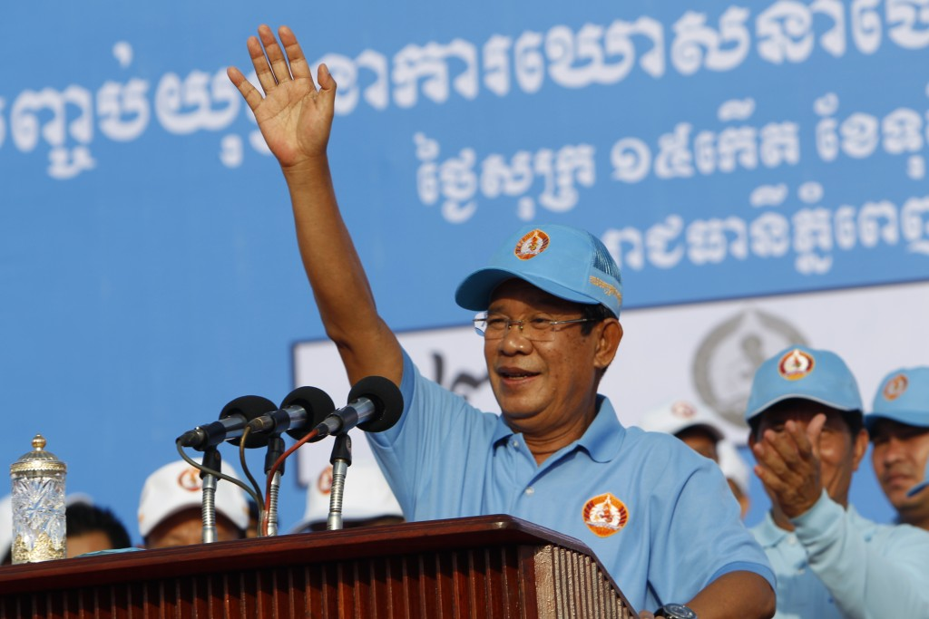 Vast crowd rallies for Cambodia ruling party before uncontested vote