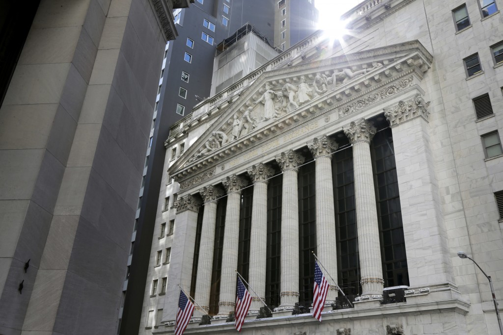 FILE- This June 25, 2018 file photo shows the New York Stock Exchange in New York.  Stocks are opening broadly higher on Wall Street, Tuesday, July 31...