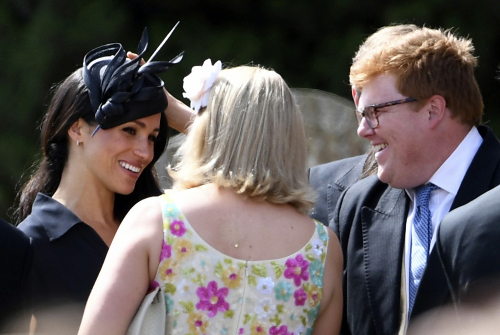 Meghan joins best man Harry at his close friend's wedding