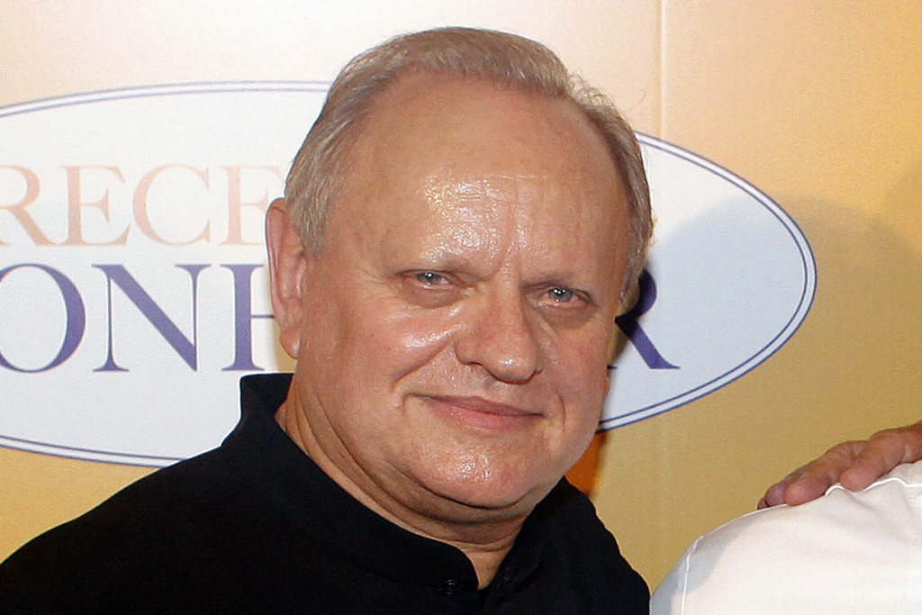 """FILE - In this Sept.7, 2014 file photo, French chef Joel Robuchon poses for photographers during a photocall for the movie """"The Hundred-Foot Journey"""",..."""
