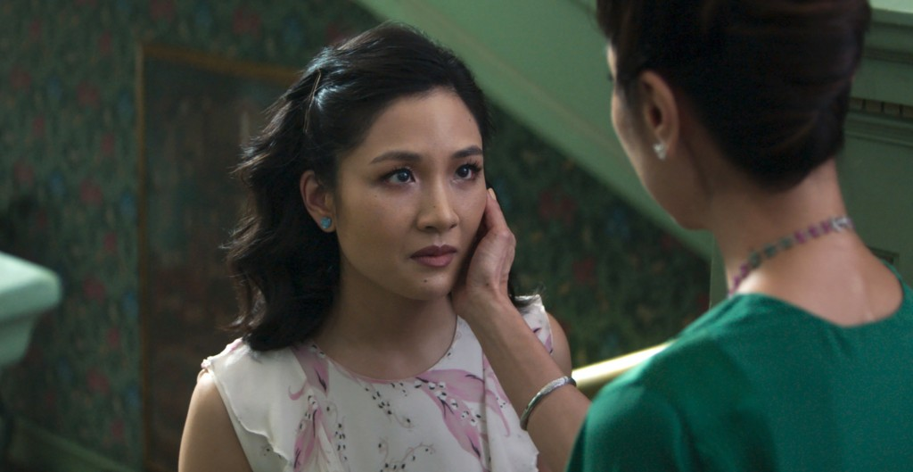 """This image released by Warner Bros. Entertainment shows Constance Wu, left, and Michelle Yeoh in a scene from the film """"Crazy Rich Asians."""" (Warner Br..."""