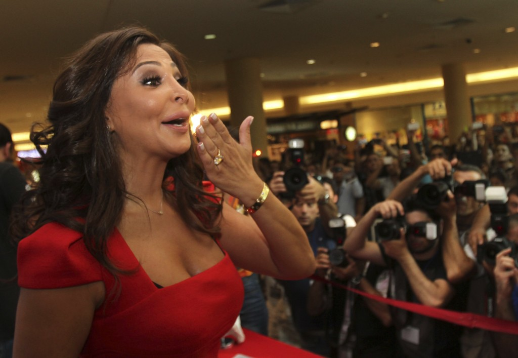 In this July 13, 2012, photo, Lebanese diva Elissa, whose real name is Elissar Khoury, one of the best known and highest-selling female artists in the