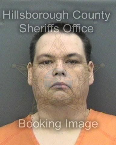 This booking photo provided by Hillsborough County Sheriff's office shows Brian Sebring.  A political argument on Facebook led Sebring driving to the