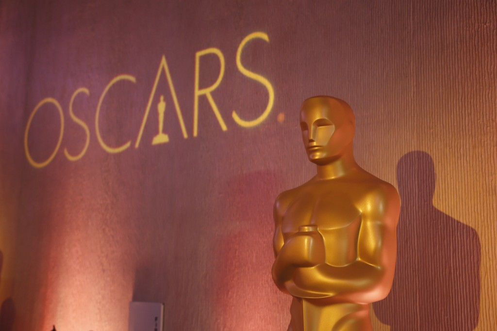 Oscar statue is places inside the ballroom at the 89th Academy Awards Nominees Luncheon in Beverly Hills C