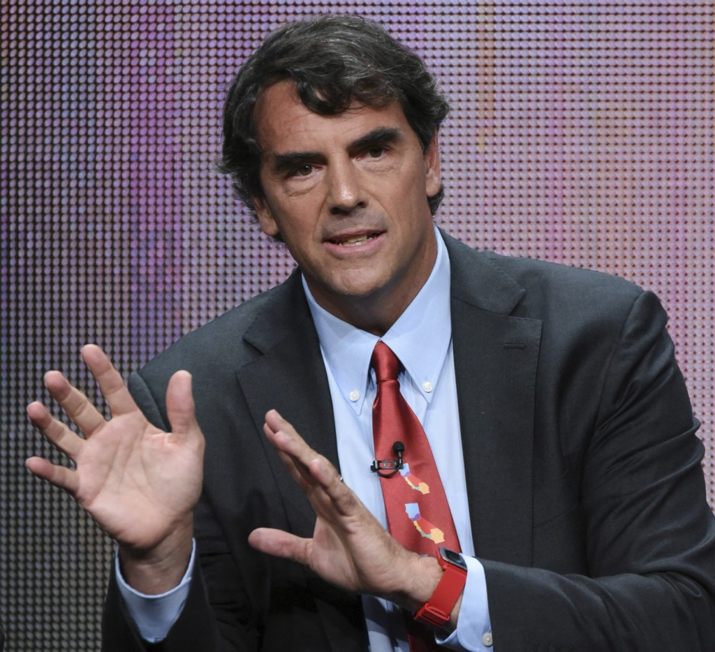 "FILE - In this Aug. 5, 2015 file photo, executive producer Tim Draper participates in the ""Startup U"" panel at the Disney/ABC Summer TCA Tour at the B"