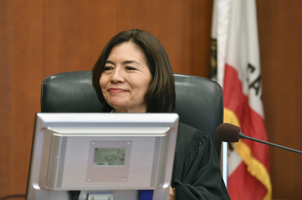 San Francisco Superior Court Judge Suzanne Ramos Bolanos reads the verdict in the case against Monsanto at the Superior Court of California in San Fra