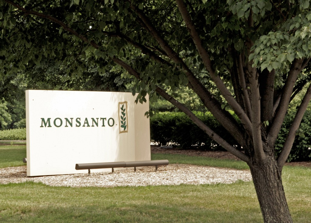 FILE - This June 29, 2006, file photo shows a sign at the Monsanto Co. headquarters in St. Louis. A San Francisco jury on Friday, Aug. 10, 2018, order