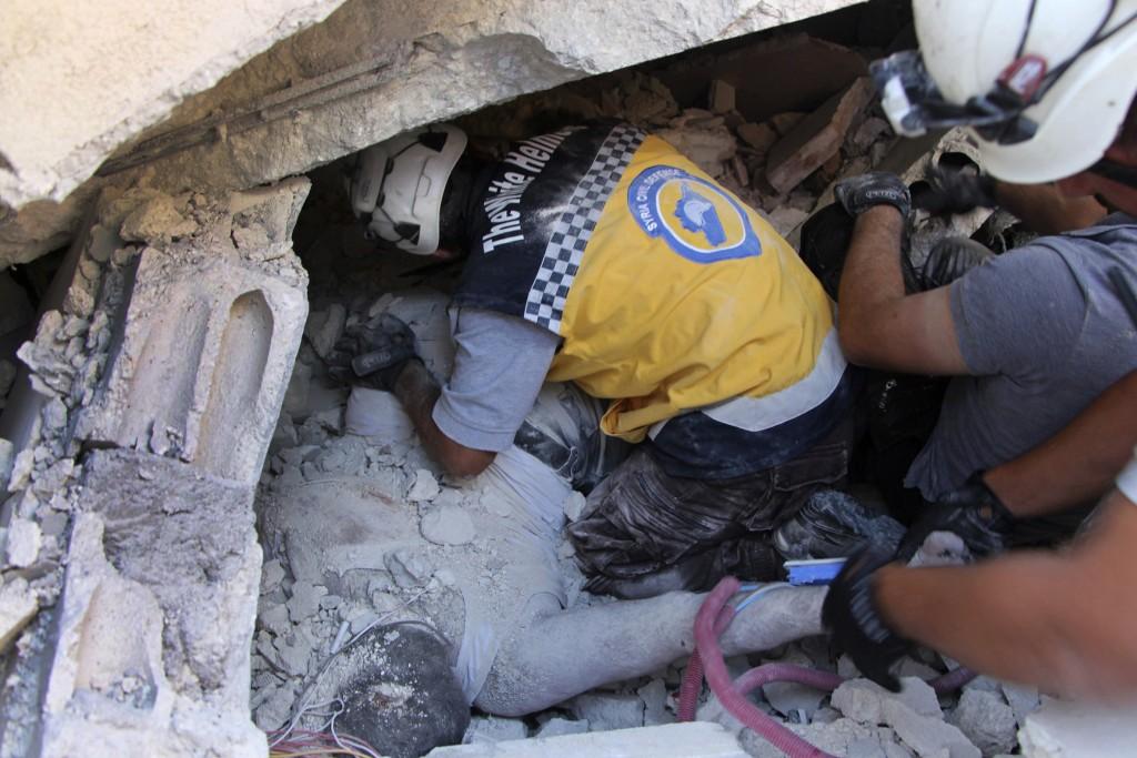 Children among dozens dead in Syria blast