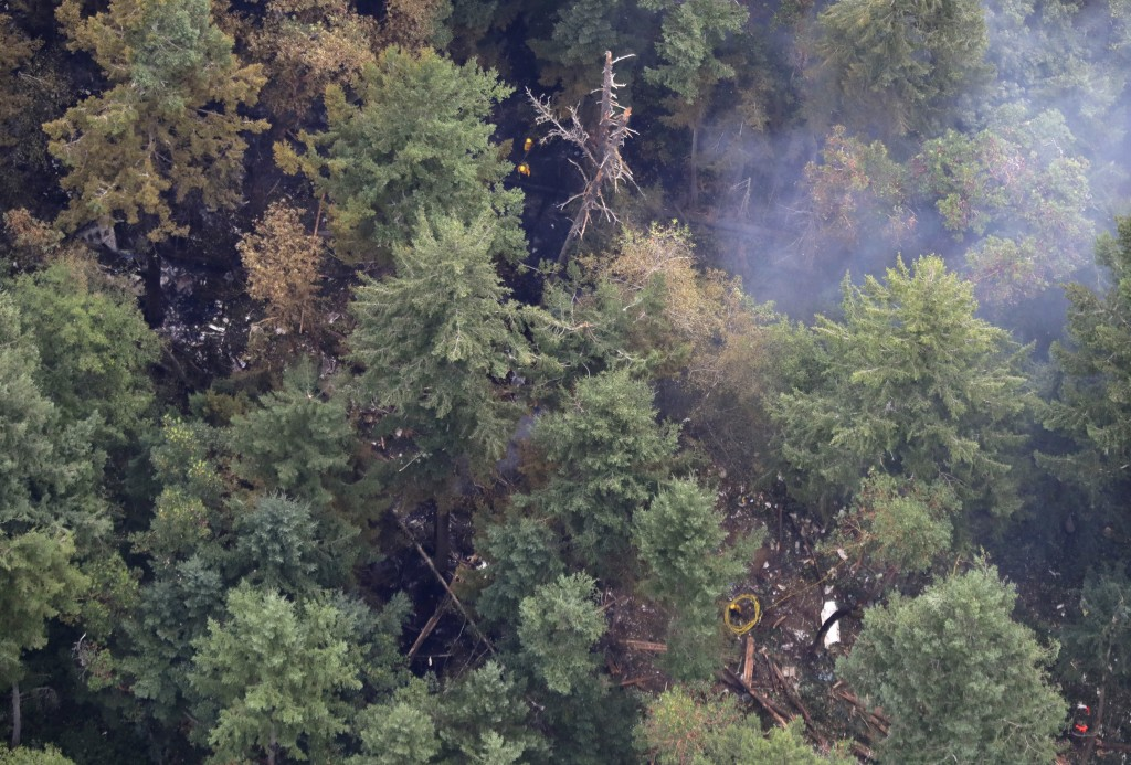The site on Ketron Island in Washington state where an Horizon Air turboprop plane crashed after it was stolen from Sea-Tac International Airport is s...