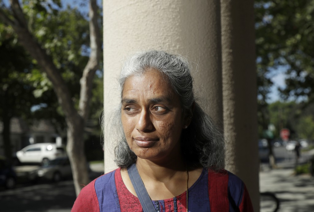 In this July 25, 2018 photo, Kalyanaraman Shankari poses for photos in Mountain View, Calif. An Associated Press investigation shows that using Google...