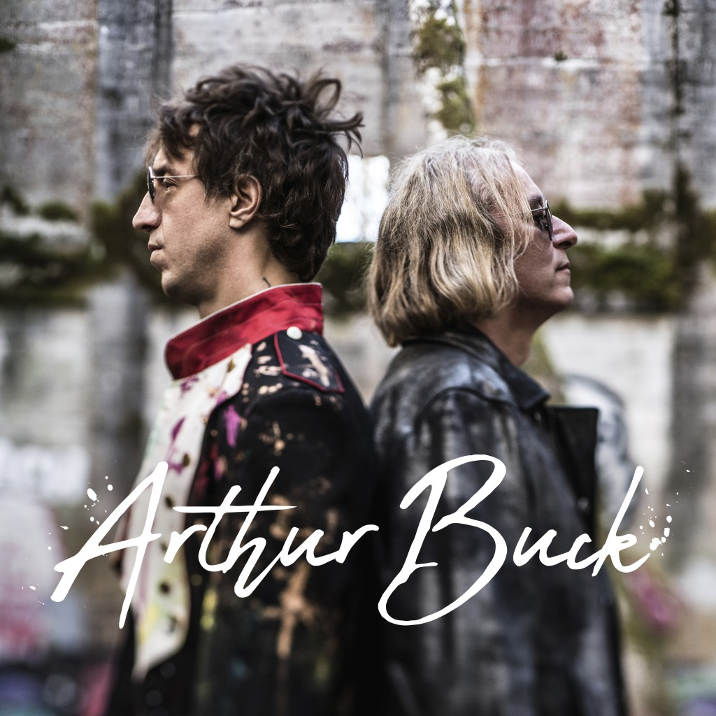 """This cover image released by New West Records shows """"Arthur Buck,"""" a collaboration between Joseph Arthur, left, and Peter Buck. (New West Records via ..."""