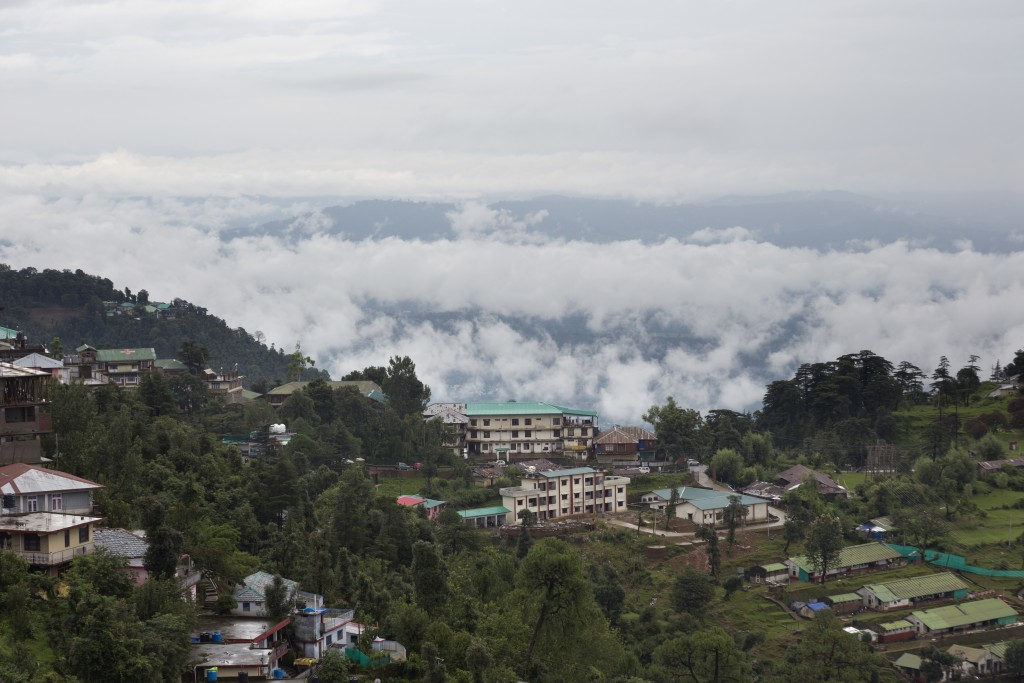 Rain clouds hang over the Kangra valley in Dharmsala, India, Monday, Aug. 13, 2018. This mountain region is currently receiving monsoon rains. (AP Pho